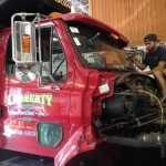 Windsheld Installation - August 8th, 2014 - Installing the windshield on a 12 wheeler
