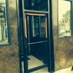 AFTER - Commercial storefront aluminum door and frame - October 21,2014