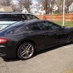 Black Maserati Side Window Tinting