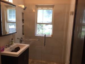 AFTER - Shower door and  enclosure - Roslindale MA - July 2015