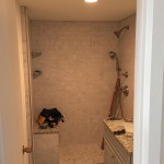 Shower Door Enclosure - BEFORE - Jamaica Plain