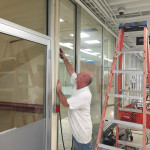 DURING - Commercial Storefront Installation