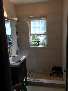 BEFORE - Shower door and  enclosure  - Roslindale MA - July 2015