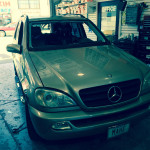 Windshield Replacement - BEFORE - Mercedes