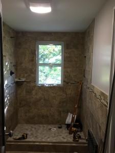 Custom shower - BEFORE - October, 10th 2015