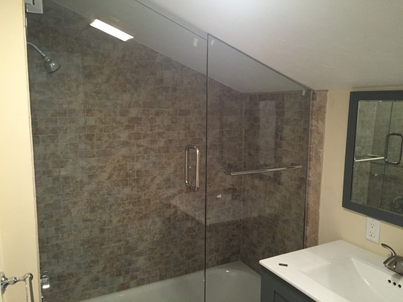 Tempered shower door enclosure in boston ma fields corner glass co tempered shower door planetlyrics Image collections